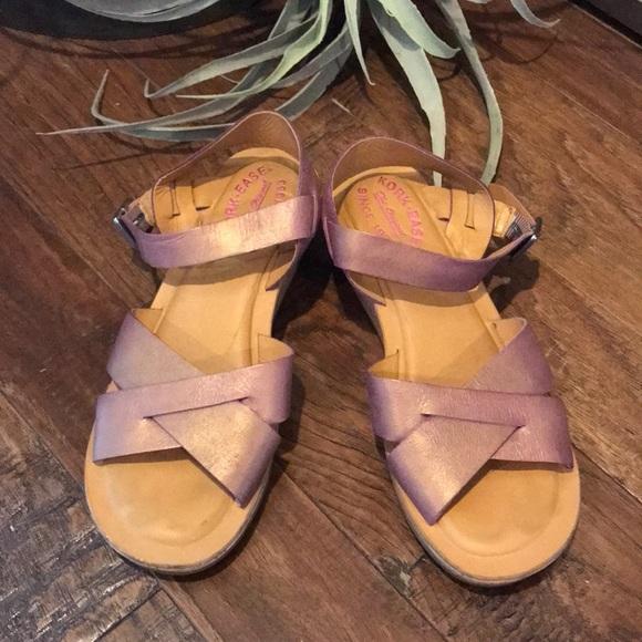 e516df45cee kork-ease Shoes - Kork Ease Myrna Sandals - Shimmery Pink